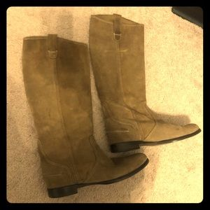 Women's Jcrew suede tall riding boots size 9